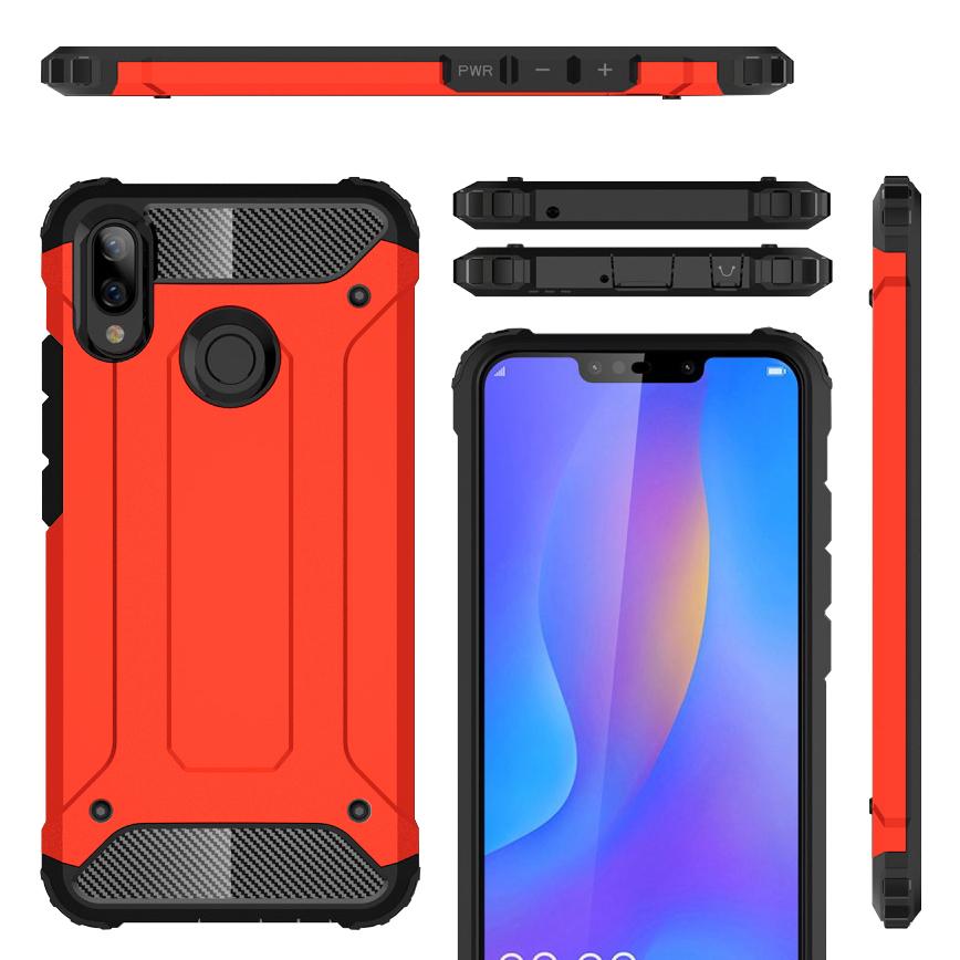 best service 58c51 e0bd0 Military Defender Shockproof Case - Huawei Nova 3i (Red)